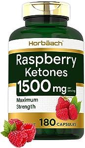 Raspberry Ketones   1500mg   180 Capsules   Non-GMO & Gluten Free Pills   by Horbaach