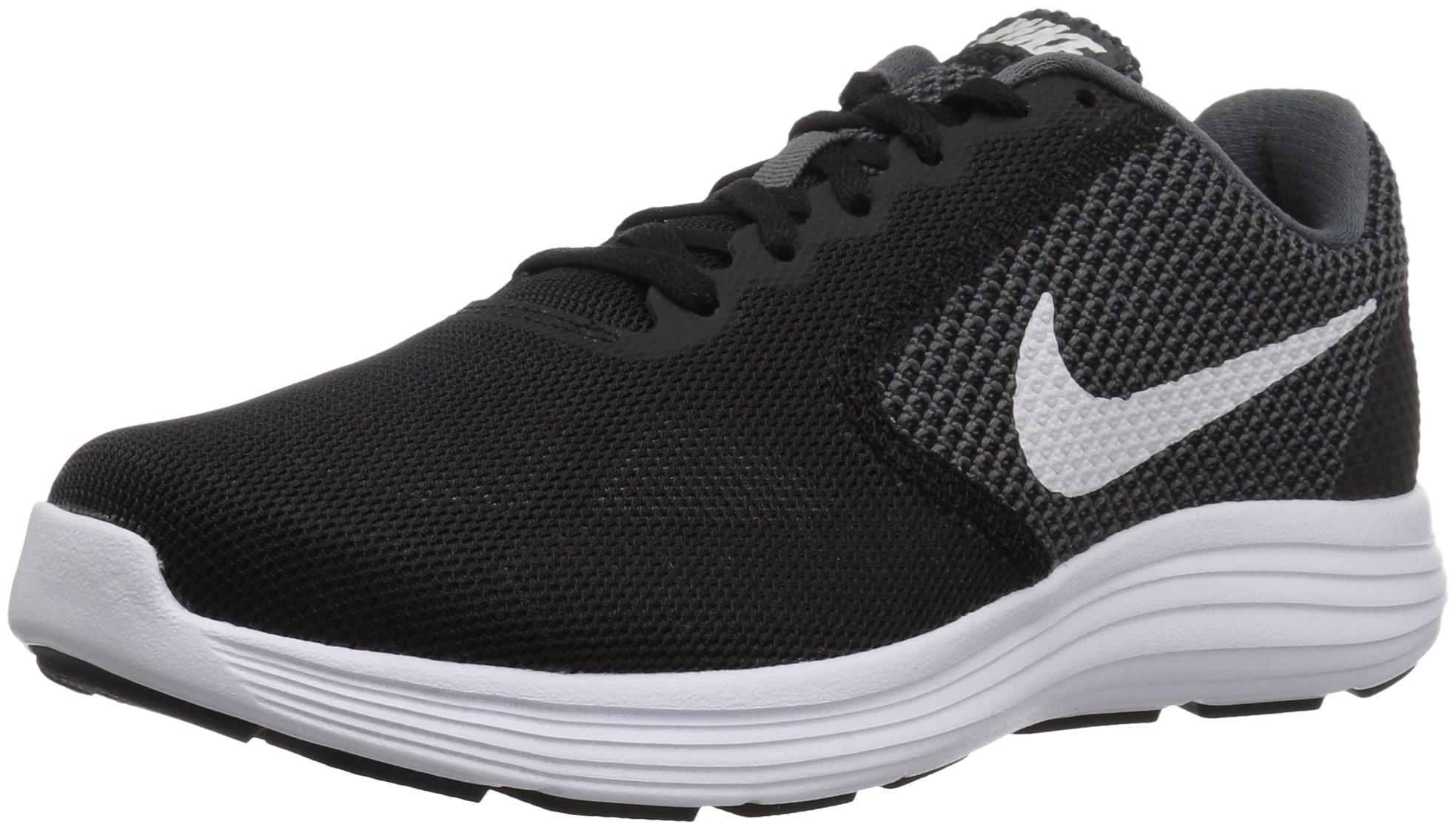 Nike Men's Revolution 3 Running Shoe, Dark Grey/White/Black, 6 4E US