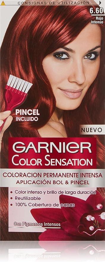 Garnier Color Sensation Coloración, Nº6 60 Rojo Intenso, 200 ...
