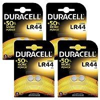 Duracell Batteria Specialistica a Bottone Alcalina Stilo LR44, confezione da 8