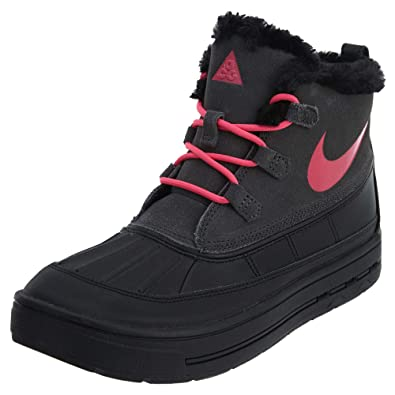 NIKE Woodside Chukka 2 GS Girls Big Kids Shoes Anthracite Black Pink 859425- 4a2dbe19a0f5
