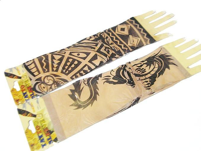 Artbox Womens Tattoo Type Fabric Elbow Length Hand Gloves