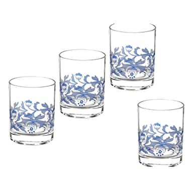 Spode Blue Italian Glassware Double Old Fashioned, S/4