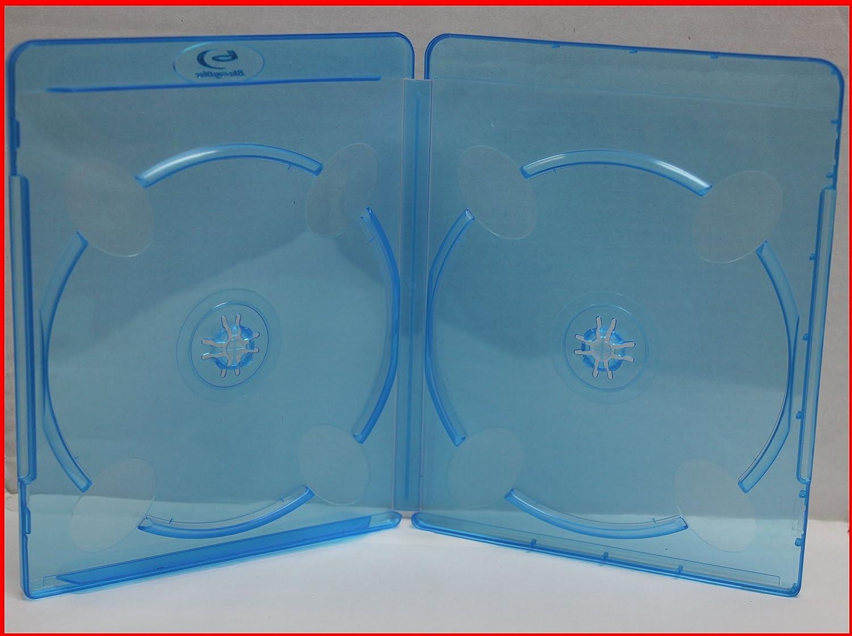 11mm MegaDisc Blu-ray Double Dual Case Premium Viva Similar Quality 2 Discs Holder Box 20 pcs//Pack