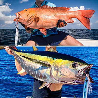 Vertical Jigs Saltwater Artificial Bait Boat Fishing Lures Jigging Lures