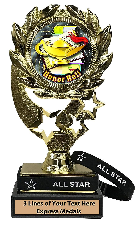 Express Medals Honor Roll トロフィー 着脱可能 オールスターリストバンド 大理石ベース カスタマイズ可 B07KM7BT56