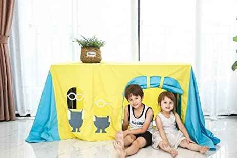 LoveTree Cotton Table Tent Kids Play Tent Kidu0027s Play Tablecovers Free Size Two Windows  sc 1 st  Amazon.com : table tents for kids - memphite.com