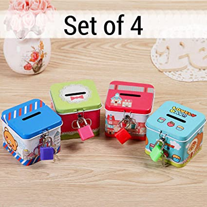 Buy Tied Ribbons Kids Birthday Party Return Gift Sets For Girls Boys Childrens Coin Money Bank Pack Of 4 Online At Low Prices In India