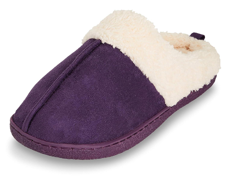 912e2bdaa42 Floopi Womens Indoor Outdoor Fur Lined Clog Slipper W Memory Foam ...