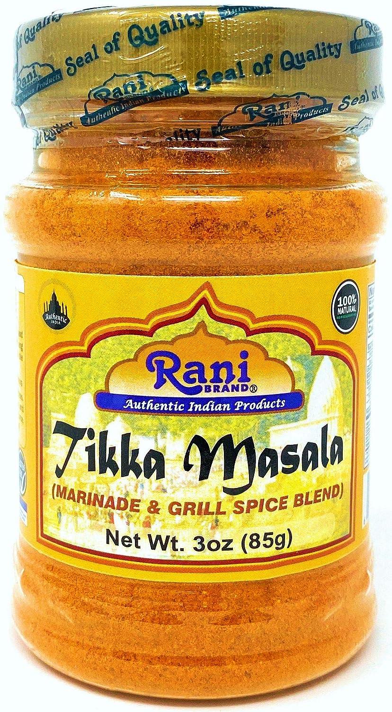 Rani Tikka Masala Indian 7-Spice Blend 3oz (85g) ~ All Natural, Salt-Free | Vegan | No Colors | Gluten Free Ingredients | NON-GMO