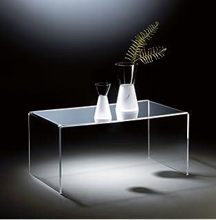 HOWE Deko Hochwertiger Acryl Glas Couchtisch, Klar, 90 X 50 Cm,