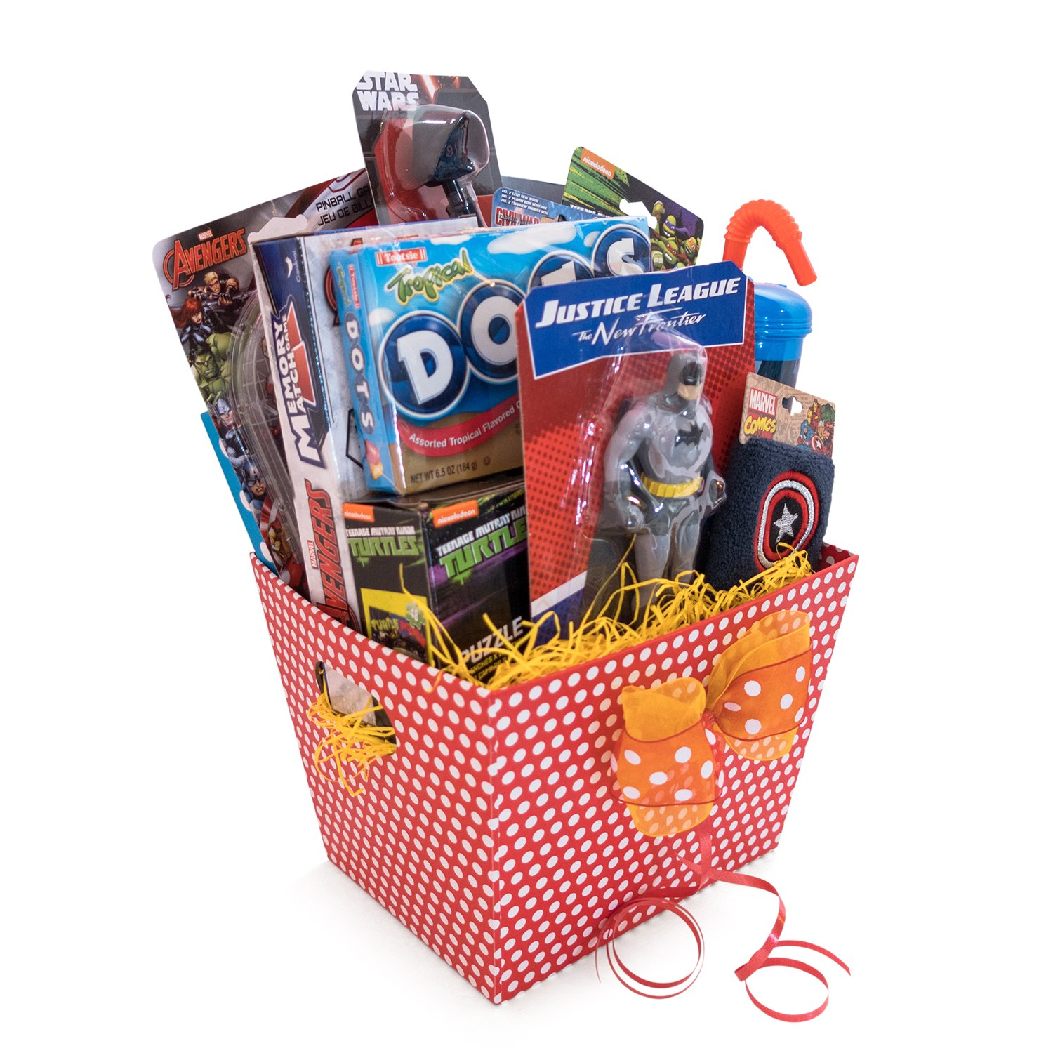 Amazoncom Gift Baskets 10 Items For Kids Ultimate Superhero Fun