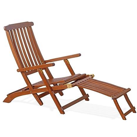 Chaise longue en bois 96 x 151 x 62 cm. Mod.Erika, réglable ...