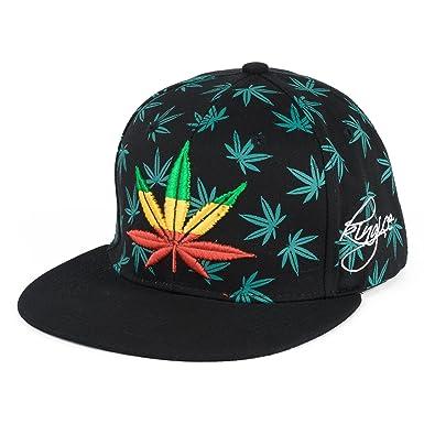 Männer Frauen Cannabis-Unkraut-Blatt Einstellbar Sommer HipHop ...