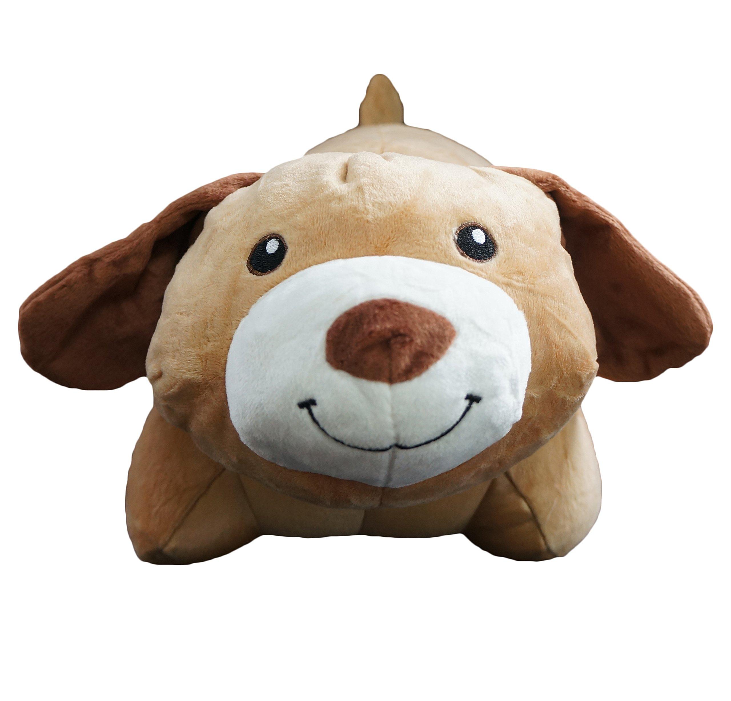 Yzakka Convertible Neck Pillow U Shaped Travel Pillow Stuffed Plush Toy Animal Dog by Yzakka (Image #3)