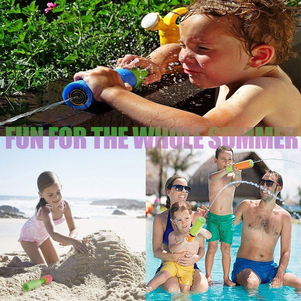 KSNOW Water Guns,6 Pack Mini Super Soaker Foam Water Blaster Gun Toys Swimming Pool Beach Garden 1 PC Fidget Toy Free by KSNOW (Image #6)