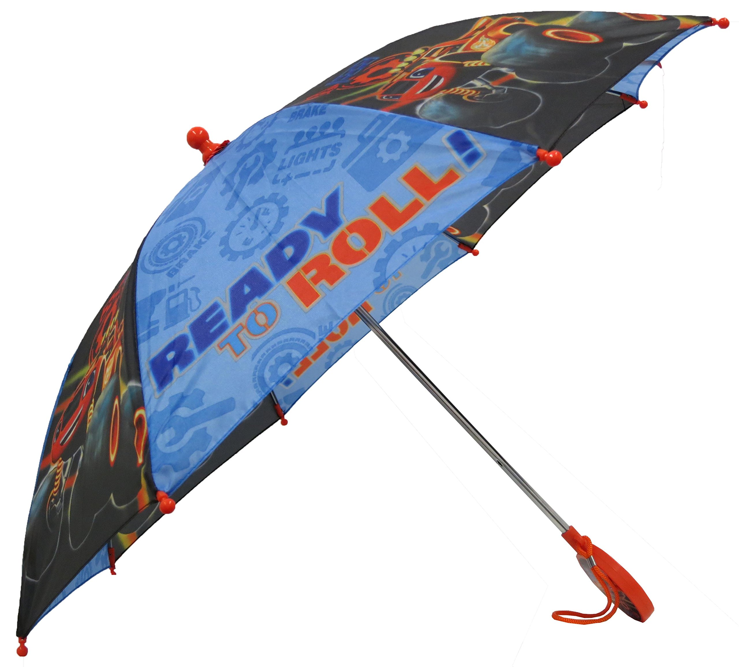 Nickelodeon Little Boys Blaze Character Rainwear Umbrella, Black/Blue, Age 3-7 by Nickelodeon (Image #2)