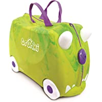 Trunki Ride On Suitcase for Kids, Saurus Rex, Green