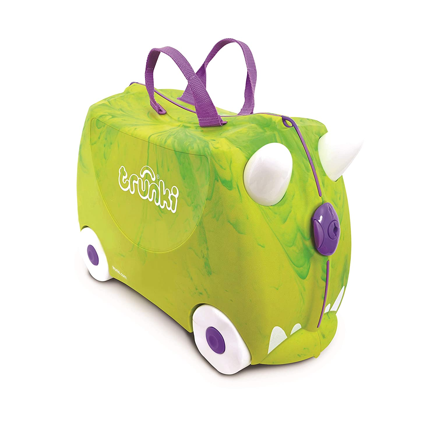 Amazon.com: Trunki Original Kids Ride-On Suitcase and Carry-On Luggage - Trunkisauras Rex (Green): Baby