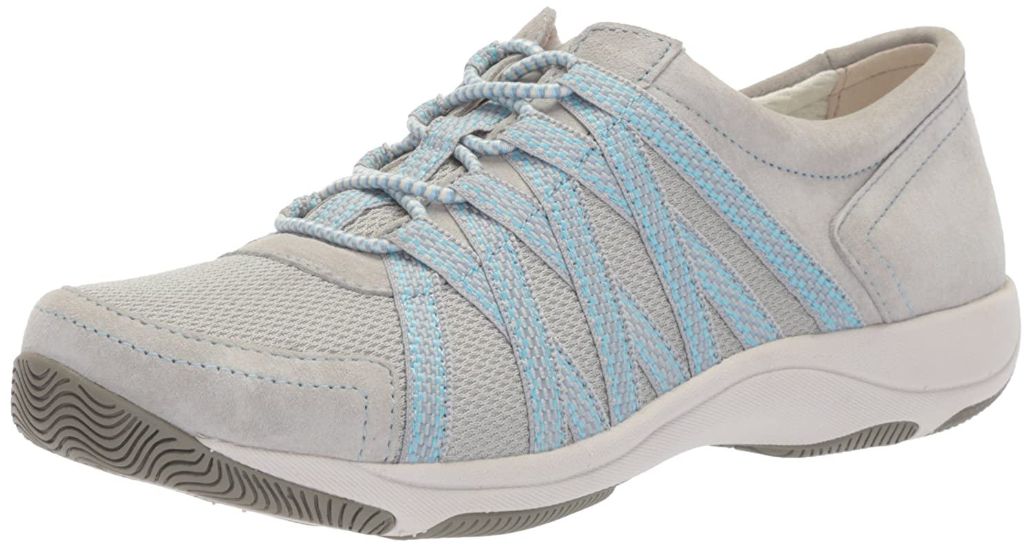 Dansko Women's Honor Sneaker B072XWGPNC 41 M EU (10.5-11 US)|Grey Suede