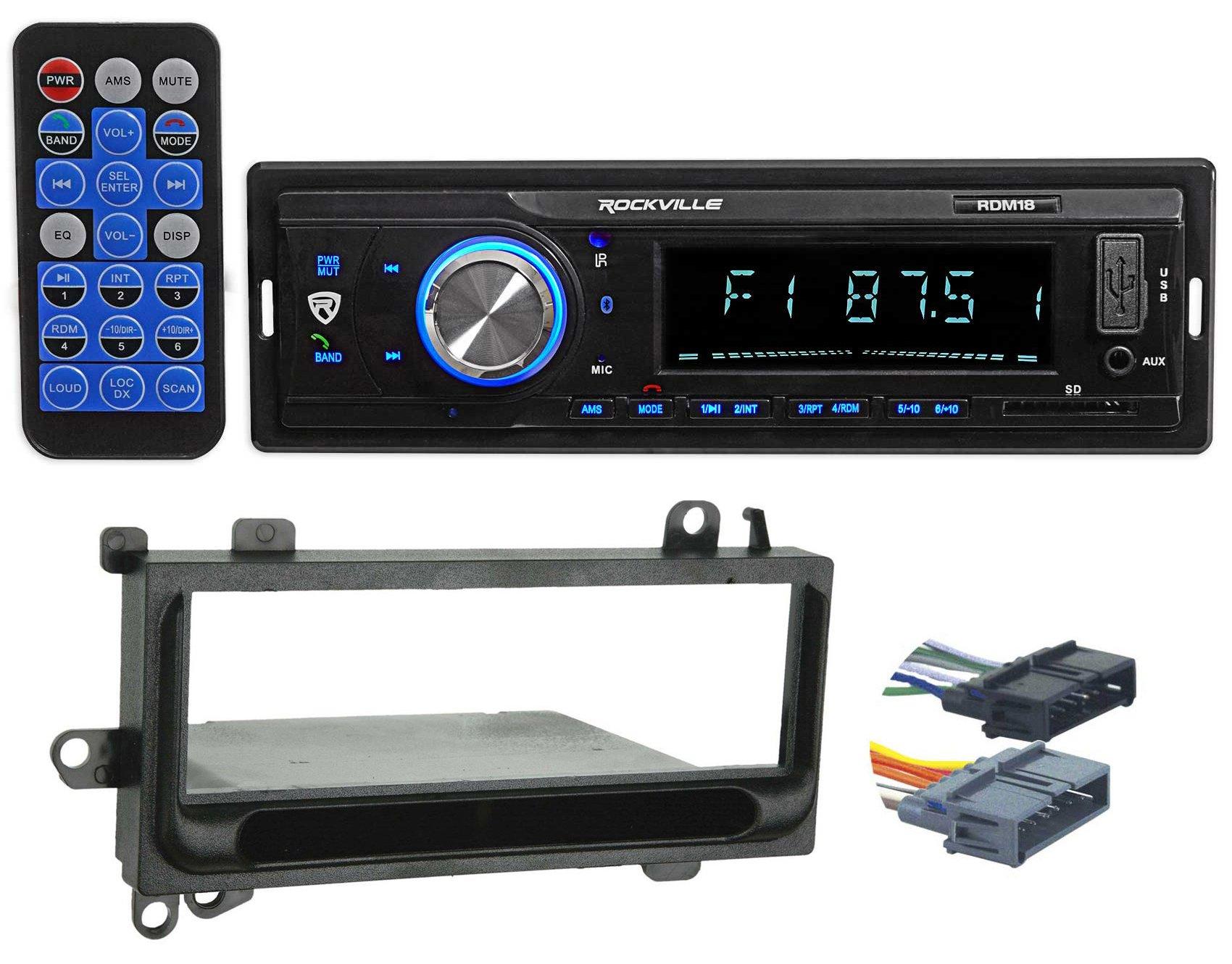 Digital Media Receiver/Radio w/Bluetooth MP3 USB/SD for 97-02 Jeep Wrangler TJ by Rockville