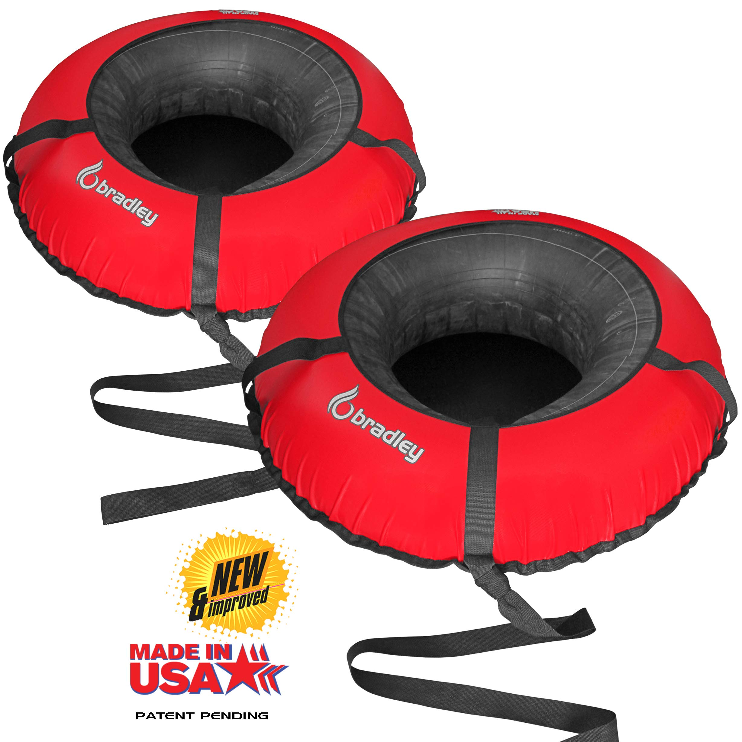 Bradley Snow Tubes with 50'' Heavy Duty Cover | 2 Pack Inflatable Sledding Tubes by Bradley