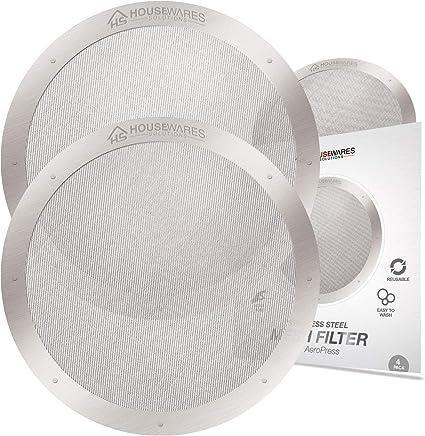 Reutilizables de acero inoxidable filtros para AeroPress cafetera ...