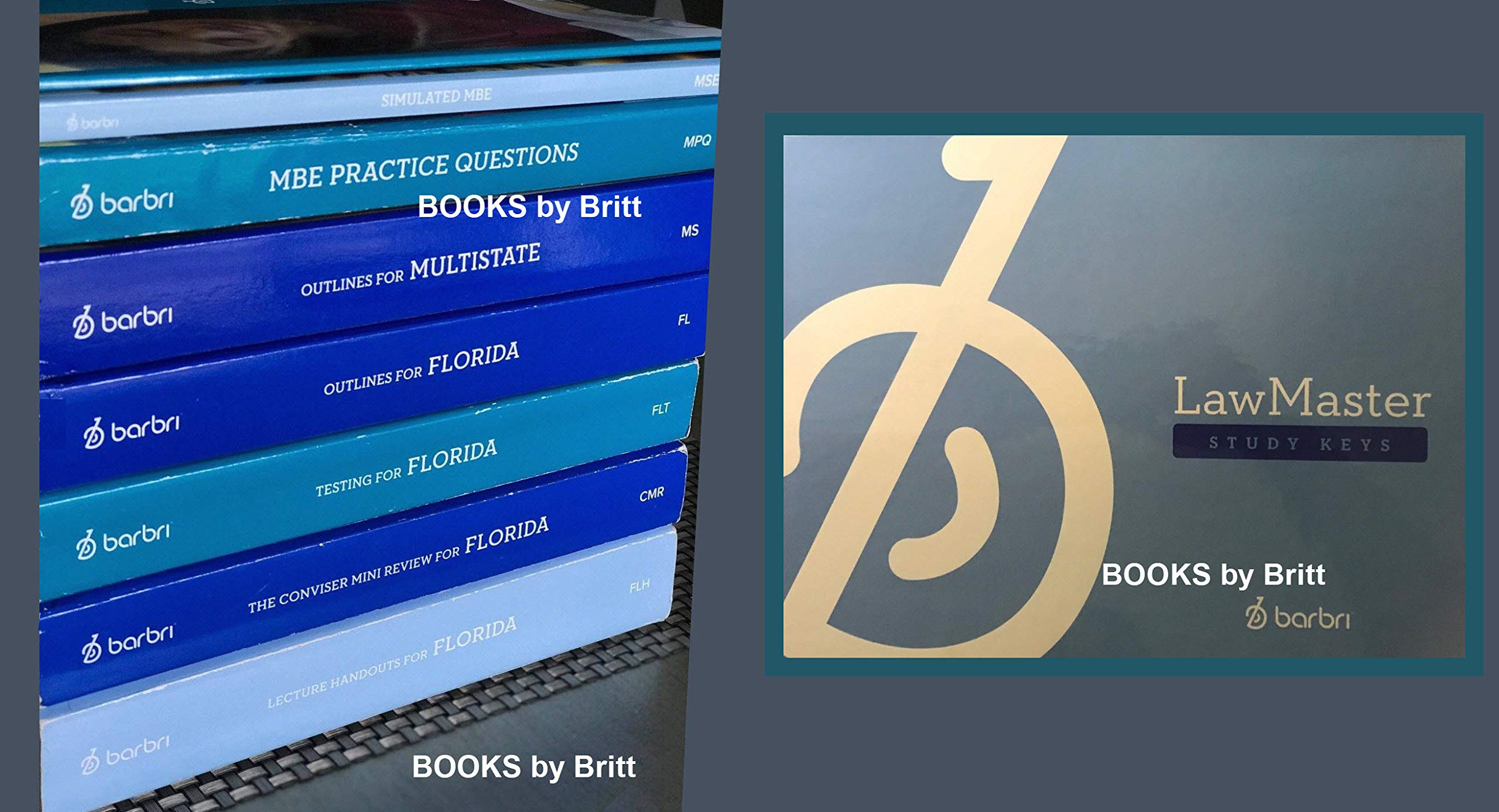 2018-2019 Barbri Bar Exam FLORIDA 8 books + StudyKey - Conviser, MBE