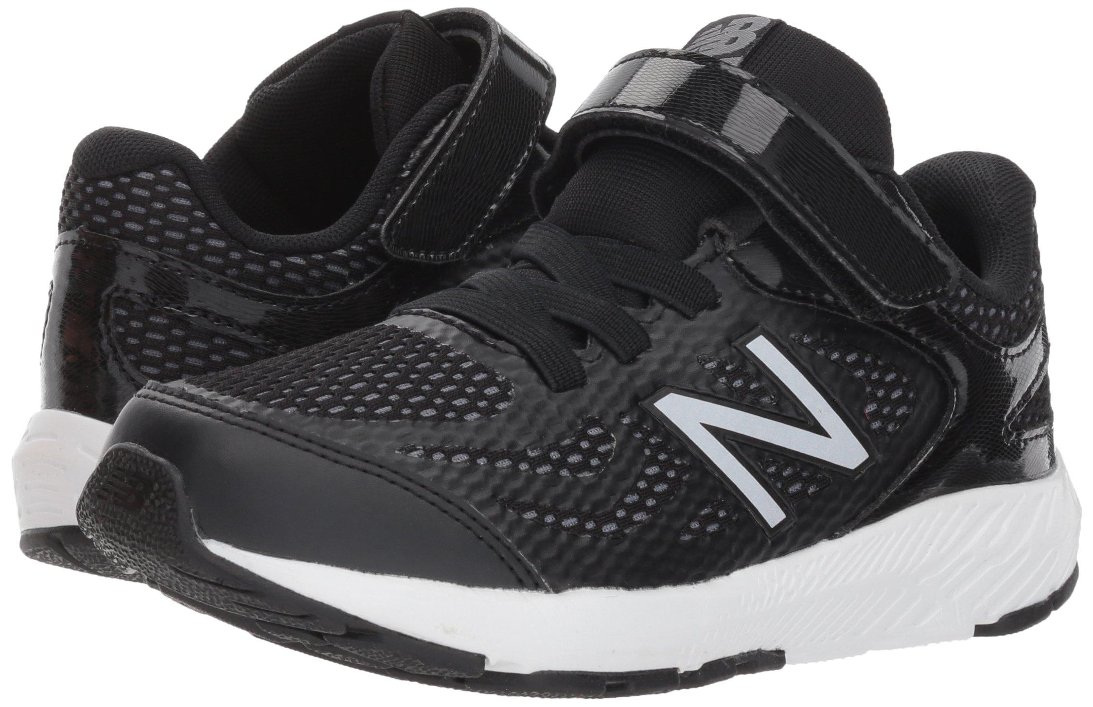 New Balance Boys' 519v1 Hook and Loop Running Shoe Black/White 2 M US Infant by New Balance (Image #6)