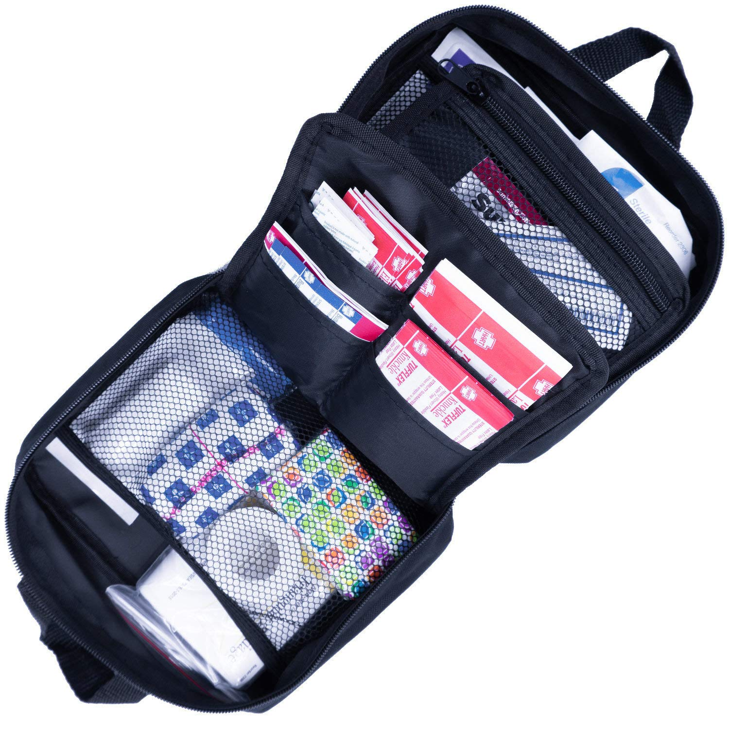 Compact Kit with 100 Essentials to fit Bag or Backpack Home. PreparaKit Travel First Aid Kit for Sports and Survival Kit for Mom Car