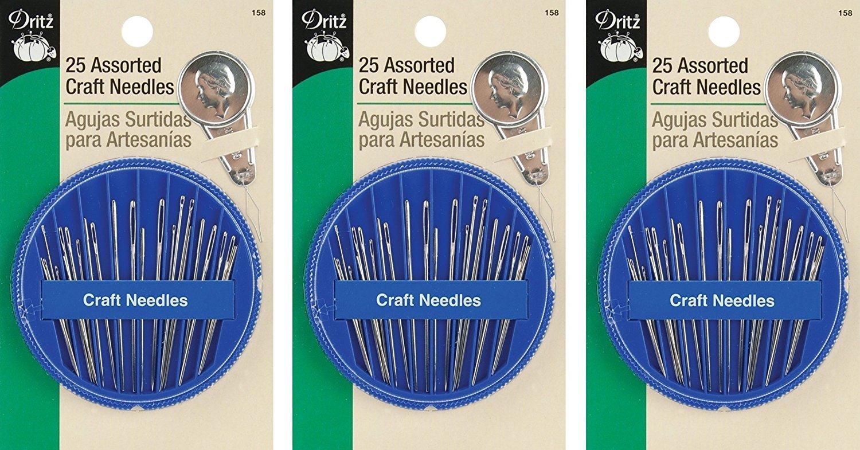 Dritz 25-Piece Assorted Craft Needles Prym Consumer USA 158
