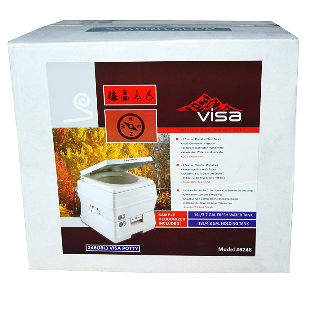 Sanitation Equipment Visa Potty Model: 248 18 Liter with 2-level Indicators