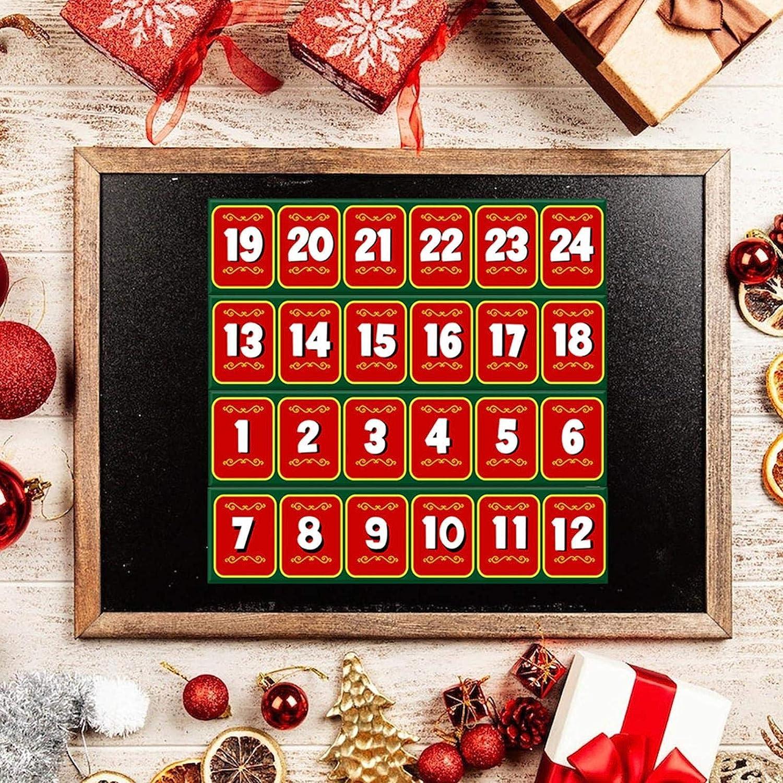 Calendario de Adviento en forma de tren calendario de Adviento de 24 d/ías con 24 elfos en el estante calendario de Adviento de papel reutilizable para rellenar juguete para ni/ños y ni/ñas