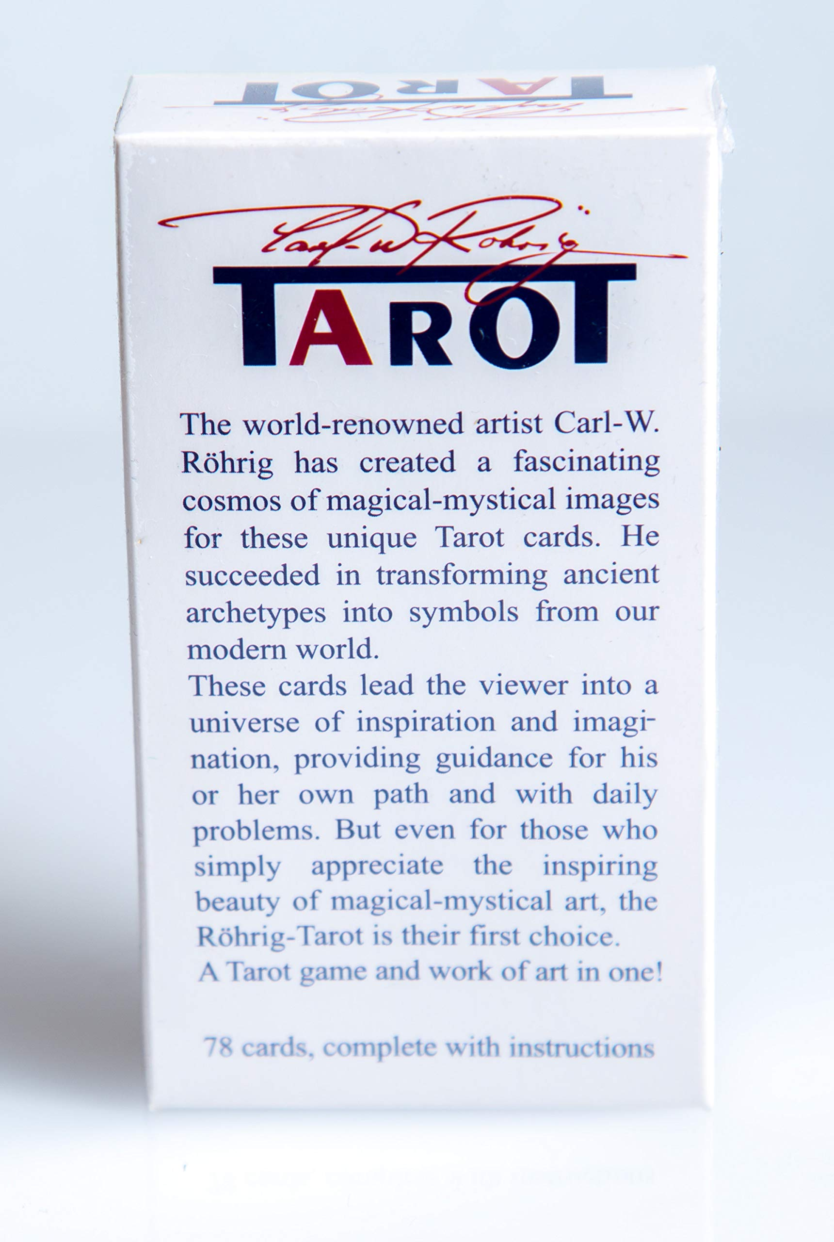 New 78 The Rohrig Tarot Tarot Cards Deck (Replica) Valentines Gift by Unknown (Image #3)