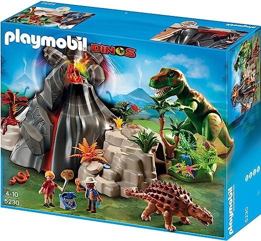 PLAYMOBIL - Volcán con Tiranosaurius, Set de Juego (5230): Amazon.es: Juguetes y juegos
