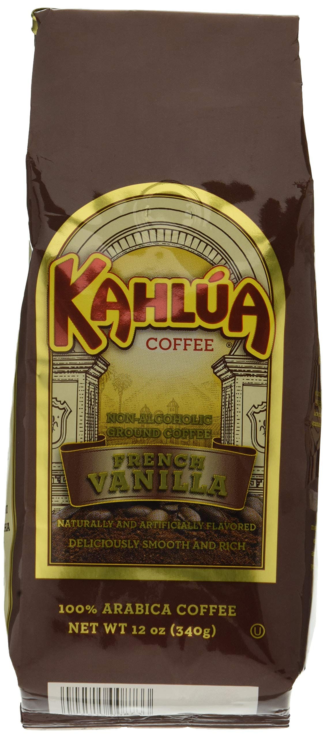 White Coffee Kahlua French Vanilla Gourmet Ground Coffee, 12-Ounce Bags (Pack of 2)