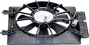 MYSMOT Right/Passenger Side AC A/C CONDENSER Cooling Fan Assembly For Honda CR-V 2002-2006 / Honda Element 2003-2006/38616-P3G-003