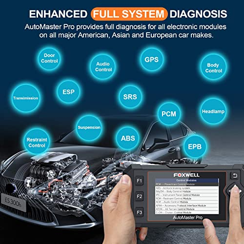 You are offered all-system diagnosis for most vehicles if you go with the Foxwell NT624E