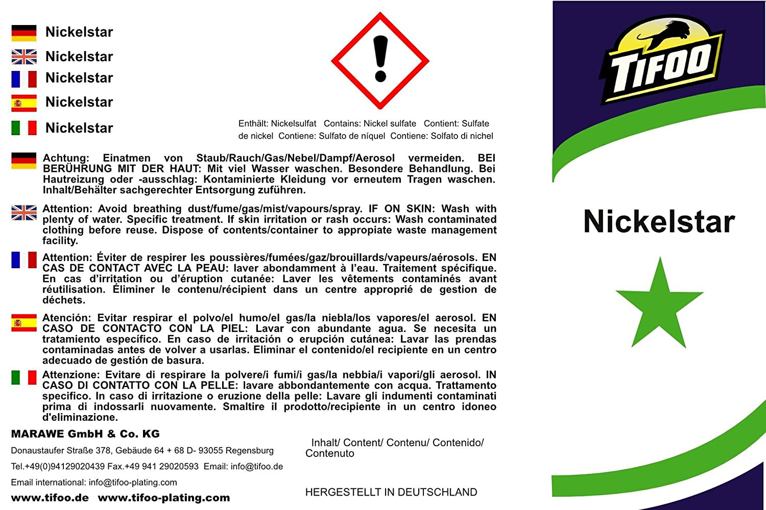 Nickel-Star + Reduktor (1000 ml + 250 ml) - Alternative zu Nickel ...