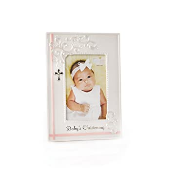 Amazon.com : Nat and Jules Baby\'s Christening Frame, Pink : Nursery ...
