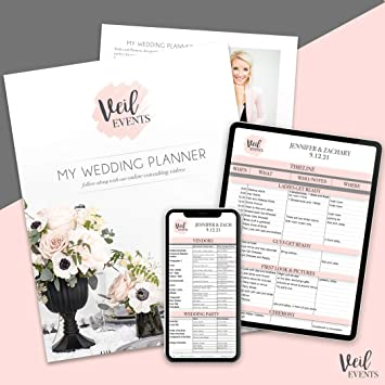 Amazon Com Wedding Planner And Digital Planning Spreadsheet Templates Training Planning Videos Timeline Itinerary Budget Checklist To Do List Vendors Wedding Party Organizer And More Office Products