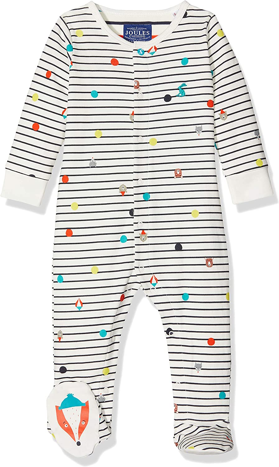 Joules Baby OAP Babygrow French Navy Animals