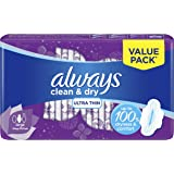 Always Clean & Dry Ultra Thin, Large sanitary pads, 8 pads