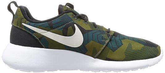 Nike Herren Roshe one Print Laufschuhe, Marrón (Cargo Khaki