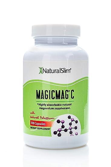 NaturalSlim Anti Stress Magnesium Capsules - Pure Magnesium Citrate Plus Potassium - Natural Aid to a