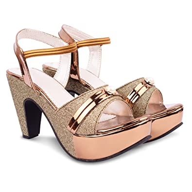 d9a3ad8fdc3 Denill Latest Collection, Comfortable & Fashionable Heels for Women's &  Girls: Buy Online at Low Prices in India - Amazon.in