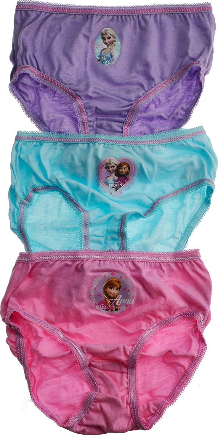 3 Pairs - Girls Disney Frozen Underwear Briefs - Knickers featuring Elsa Anna[5-6 Years][Assorted]