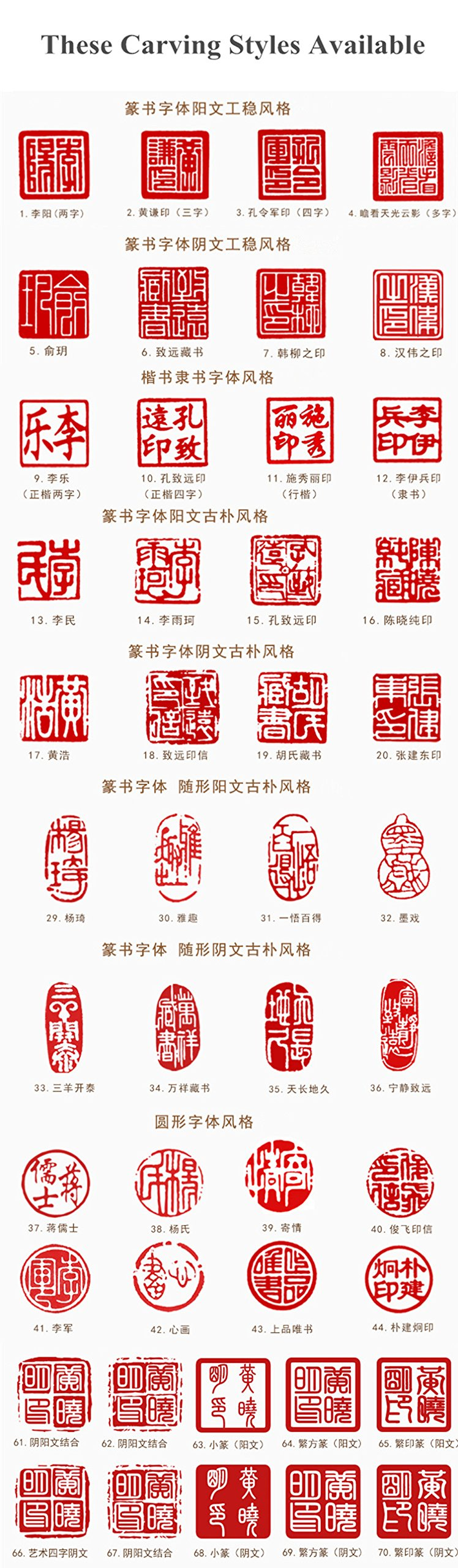 YZ014 Hmay Chinese Name Chop with Bamboo Shape (2cm)/Handmade Carve Personalize Customized Traditional Calligraphy Painting Art Stamp Seal