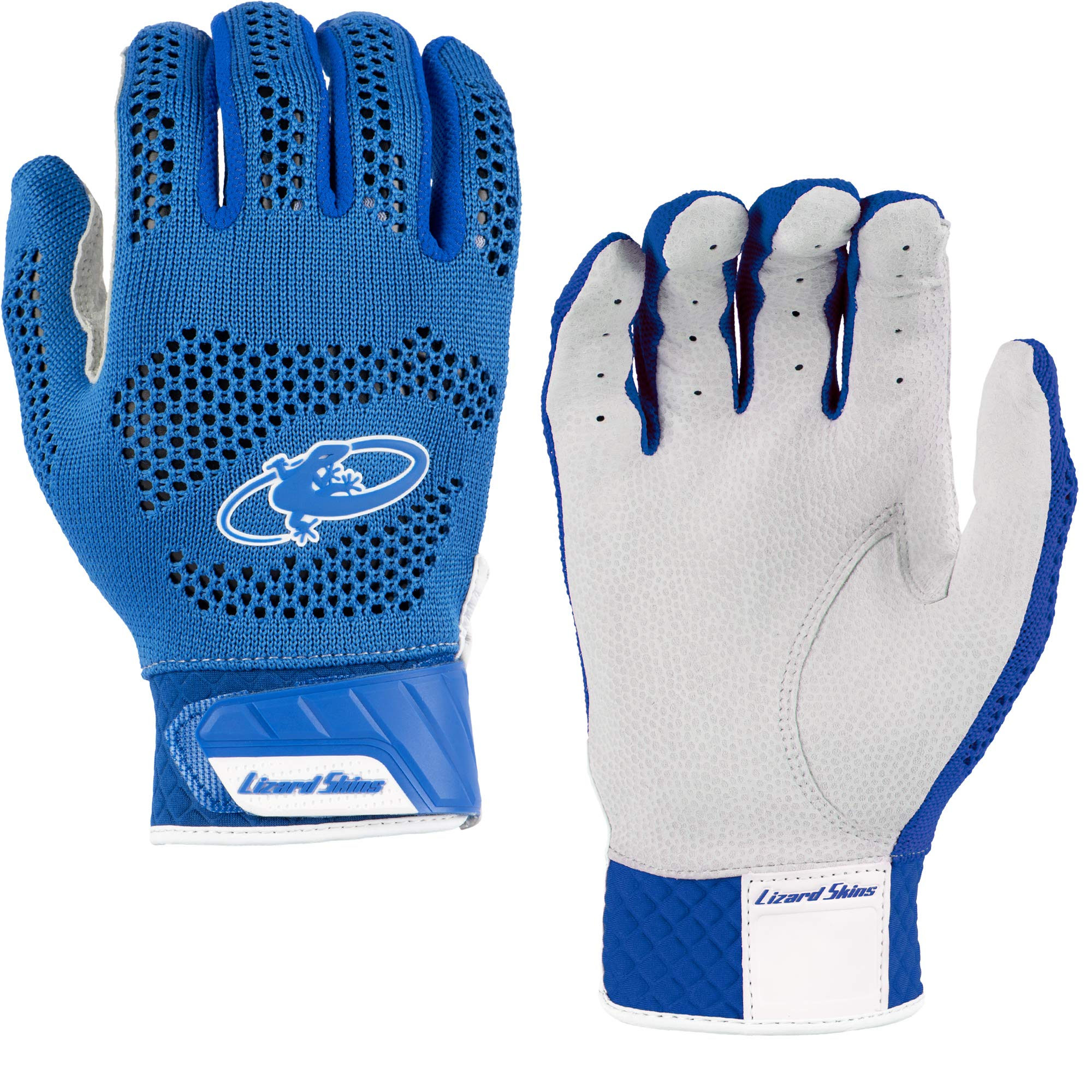 Lizard Skins Pro Knit 2.0 Baseball Batting Gloves - Adult Baseball Batting Gloves (Blue, X-Small)