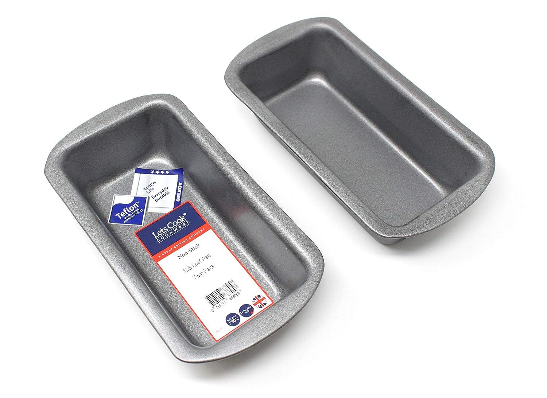450/g 0,5/kilogram Moule /à Cake Lot de 2 capacit/é de 0,5/kilogram fabrication britannique avec GlideX antiadh/ésif /® TM par Lets Cook